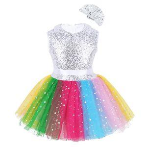 JUPETTE DE DANSE Tutu Danse Classique Fille Enfant Paillettes Robe