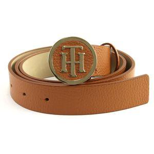 Tommy Hilfiger Th Round Buckle 3.0 w95 ceinture accessoire Dark Tan Marron Nouveau
