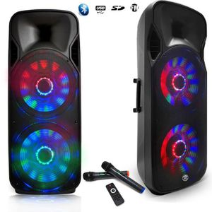 PACK SONO Enceinte Sono DJ PA Mobile Party MyDJ BOXER-215LED
