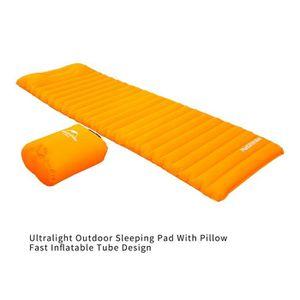 "Premium Ultra-Léger Gonflable Camping Sleeping Pad 76/"" X 23/"" orange"