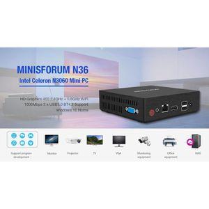 UNITÉ CENTRALE  MINISFORUM N36- Mini PC Windows 10-4G RAM+ROM 64G-