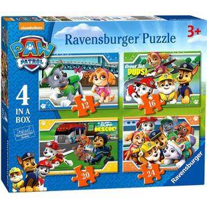 PUZZLE Paw Patrol - Puzzle Box 4 en 1 - 12, 16, 20 et 24