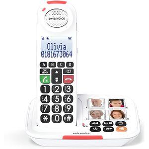 Téléphone fixe Téléphone sans fil Senior Amplifié +90dB /  Swisse