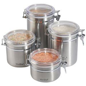BOITES DE CONSERVATION VonShef Lot de 4 boites hermétiques alimentaires e