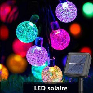 GUIRLANDE D'EXTÉRIEUR Guirlande Lumineuse Solaire 100 Petites Boule LED