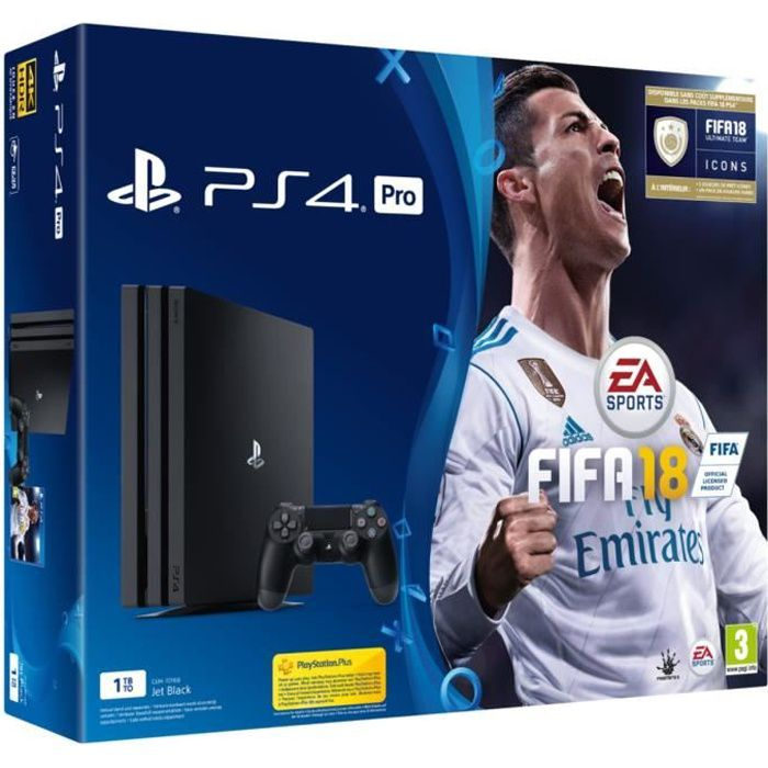 ps4 pro 1 to fifa 18 achat vente console ps4 pack. Black Bedroom Furniture Sets. Home Design Ideas