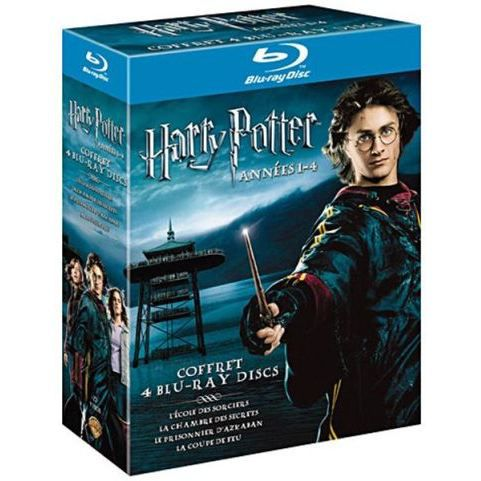 blu ray coffret harry potter 1 2 3 et 4 en dvd film pas cher cdiscount. Black Bedroom Furniture Sets. Home Design Ideas