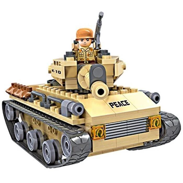 Jeu D'Assemblage MG4R8 kit de jeu de blocs de construction - armée de jouets soldats de maintien de la paix réservoir de l'armée de
