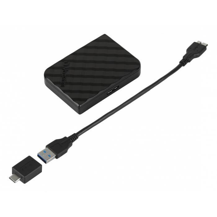 VERBATIM Store 'n' Go - Disque dur externe - 512 Go - USB 3.2 Gen 1 - noir