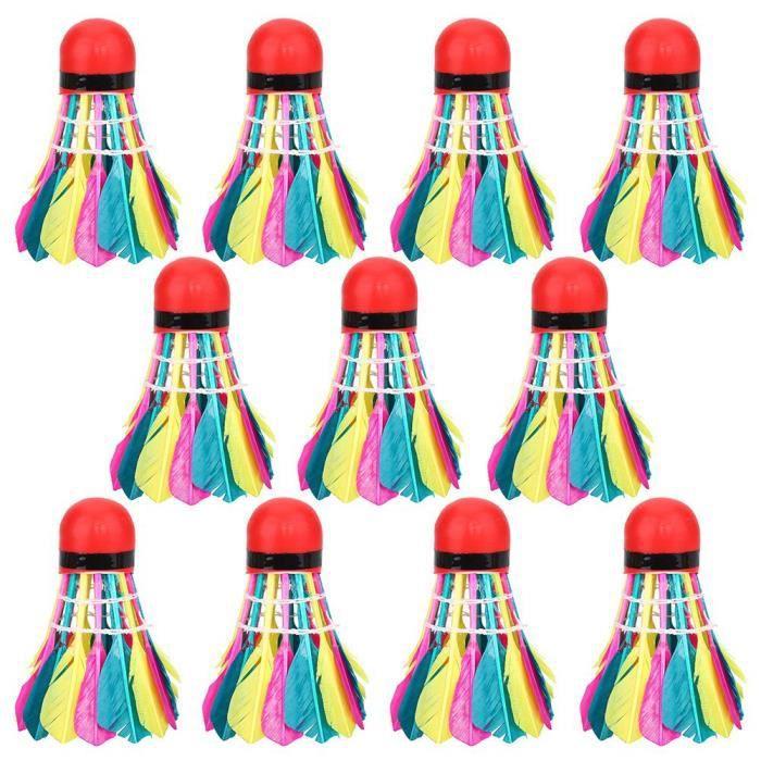 11pcs - lot coloré accessoires de formation de sports de volants de badminton colorésXINYSHOP