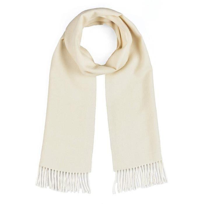 Serre-Tete Professionnel FVWJV 100% laine d'alpaga pur écharpe, solides sans colorant naturel Couleurs pour &