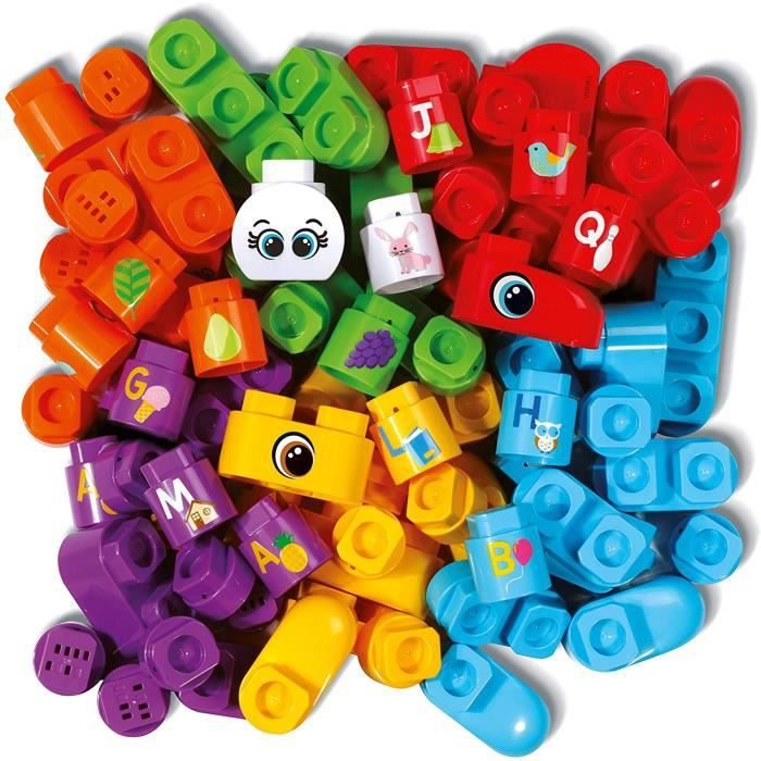 Jeux de construction VTech- Pack DE 50 Blocs Bla Blocks Jouet Premier Age, Construction, 80-608705, Multicolore 52608