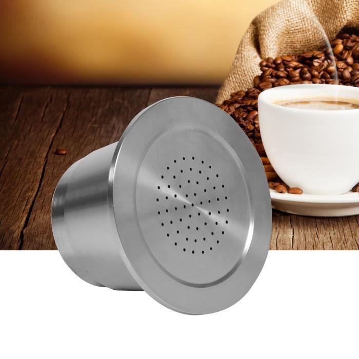 Inox Capsule Rechargeable + Cuillère Pr NESPRESSO Café Machine à Espresso -RUR ` 122