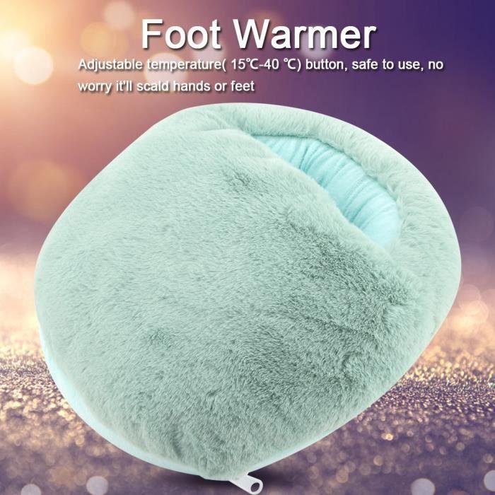Chauffe pieds électrique chauffant massant chaud pour massage peluche bureau bouillotte coussin hiver chauffage chancelière ABI