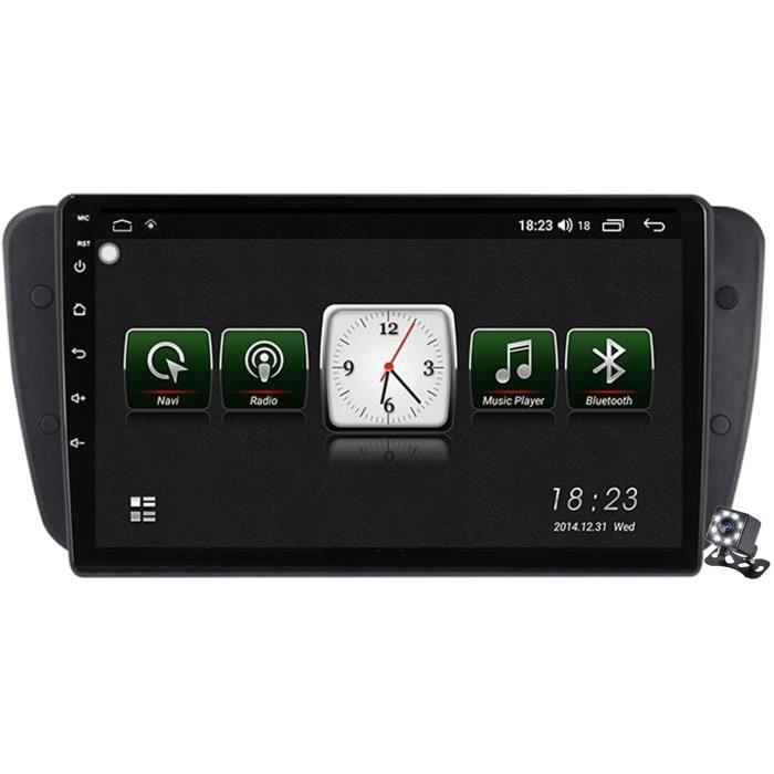 AUTORADIO Buladala Android 10 9 Pouces Stereo Multimedia GPS Navigation pour Seat Ibiza 6j 2009-2013 avec FM RDS Autoradio, So9