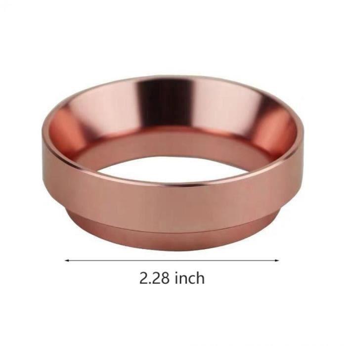 Café Filtres,Poudre de café de bol de brassage d'anneau de dosage Intelligent d'acier inoxydable de 51-58mm - Type 58mm-Rose gold