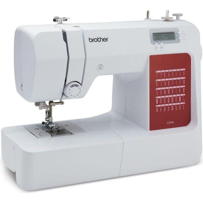 BROTHER - CS10s - Machine à coudre électronique - 40 points de couture - Système d'enfile-aiguille - Ecran LCD - Blanche