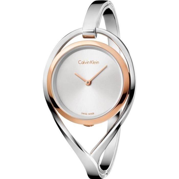 Calvin Klein LIGHT K6L2SB16 Montre Bracelet pour femmes Fabriqué en Suisse