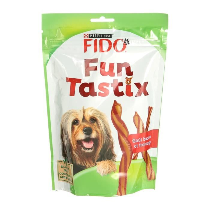 FIDO FunTastix - Goût bacon et fromage - Pour chien - 150 g