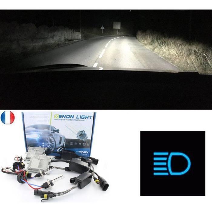 Pack kit xénon feux de route, plein phare pour votre CITROËN C4 AIRCROSS (BU_) - Processeur Numérique 32bits - Ampoules métalliques