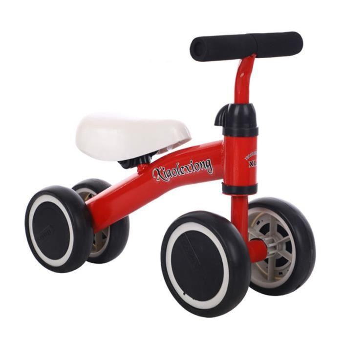 GOBRO Vélo D'équilibre Pour Bébé 1-3 ans - Baby Walker-Rouge