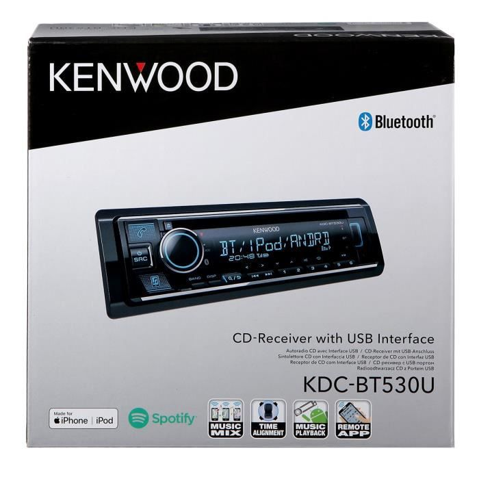 KENWOOD Autoradio CD- USB - Bluetooth KDC-BT530U