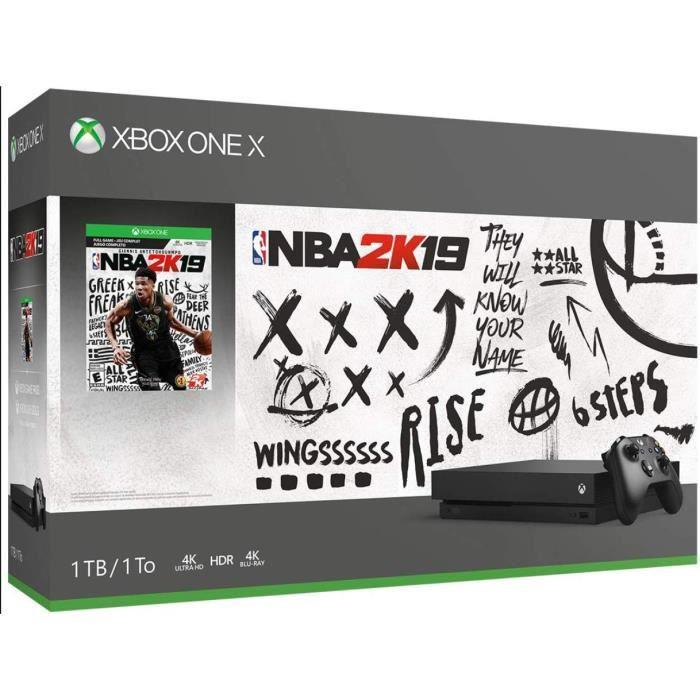 Xbox one X + Nba 2K19 + Xbox Live 14 jours