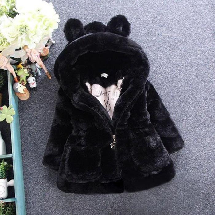 vestes d'hiver à capuche filles