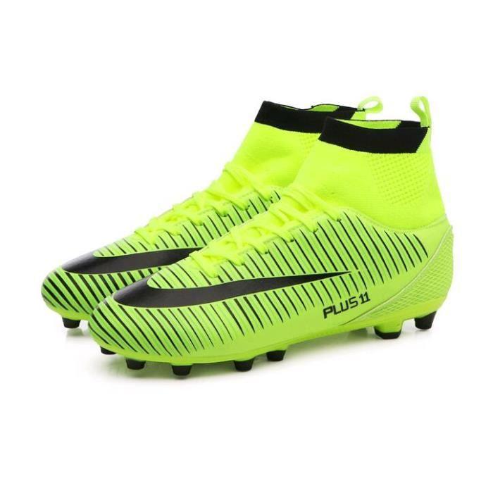 2019 Nouveau Haute aide Chaussures de foot Mâle TF Cassé Ongles Concours Professionnel Chaussures de foot Respirant Étanche