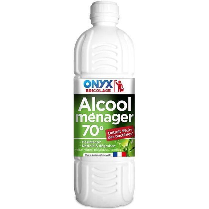 Alcool Ménager 70° Flacon 1L - Produits multi services