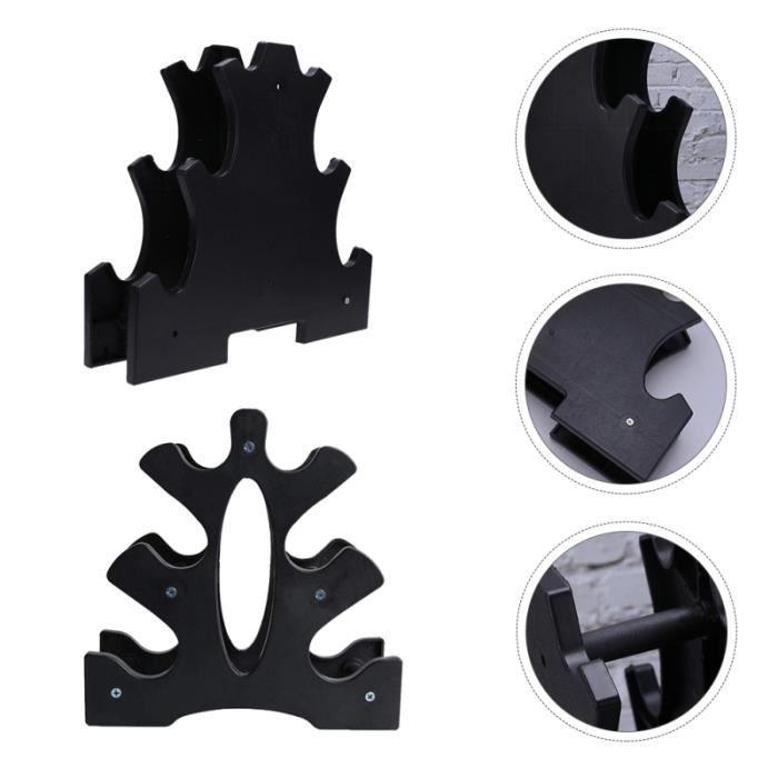 2 pièces Simple Mode Durable Haltère Support Haltere rack de rangement - rack a exercice - support fitness - musculation