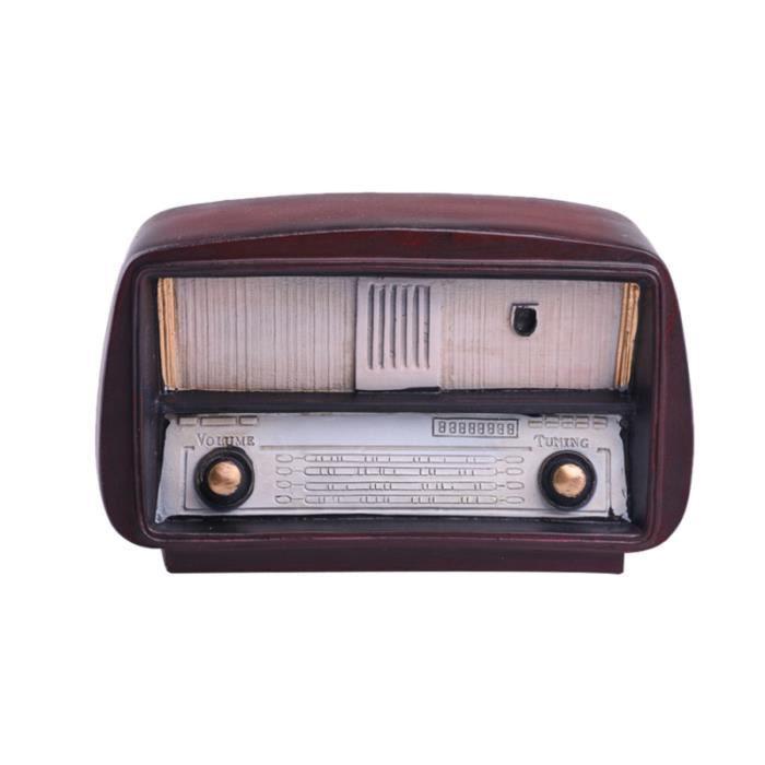 1 Pc décoration de bureau modèle de radio Vintage Radio jouet ornement de Table de la maison pour de GLOBE TERRESTRE