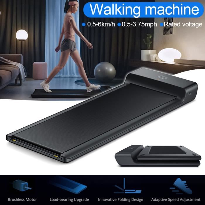 Tapis de marche électrique pliable ultra-mince portable Vitesse réglable pour les sports de bureau à domicile