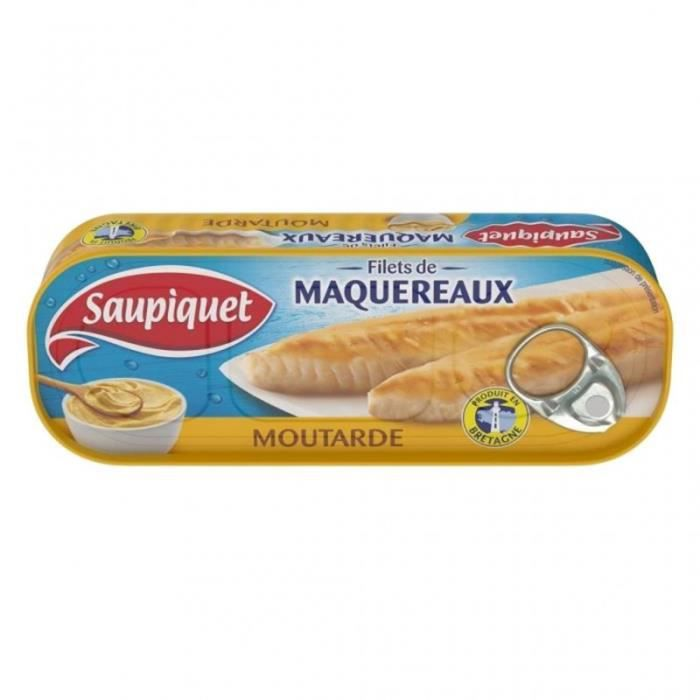 Saupiquet Filets de Maquereaux Moutarde 169g (lot de 5)