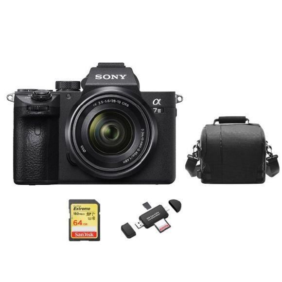 SONY A7 III KIT SEL 28-70MM F3.5-5.6 OSS + 64GB SD card + camera Bag + Memory Card Reader