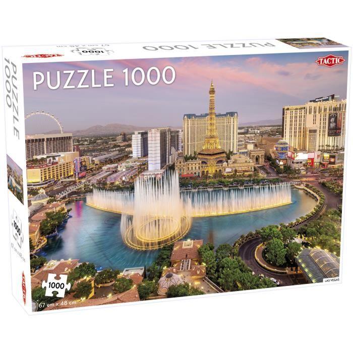 Tactic Las Vegas 1000 pcs, Jigsaw puzzle, Ville, Enfants, Garçon-Fille, 9 année(s), Intérieur