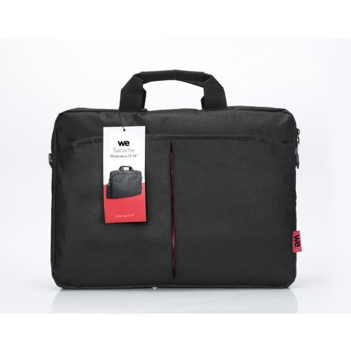 WEClassic We sacoche pour ordinateur portable 12-14'' Noir et rouge