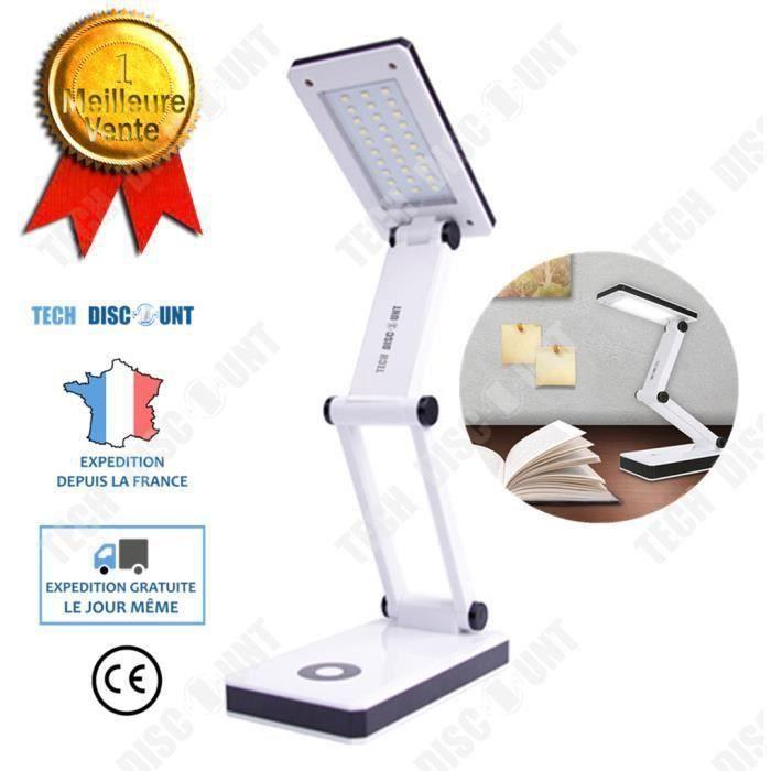 CW03037-TD Lampe de table chevet bureau lecture led rechargeable extérieur travail blanc haute puissance lumineuse beau design rot