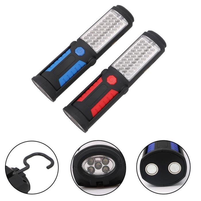 LAMPE DE POCHE USB rechargeable 36 + 5 LED Lampe de travail magné