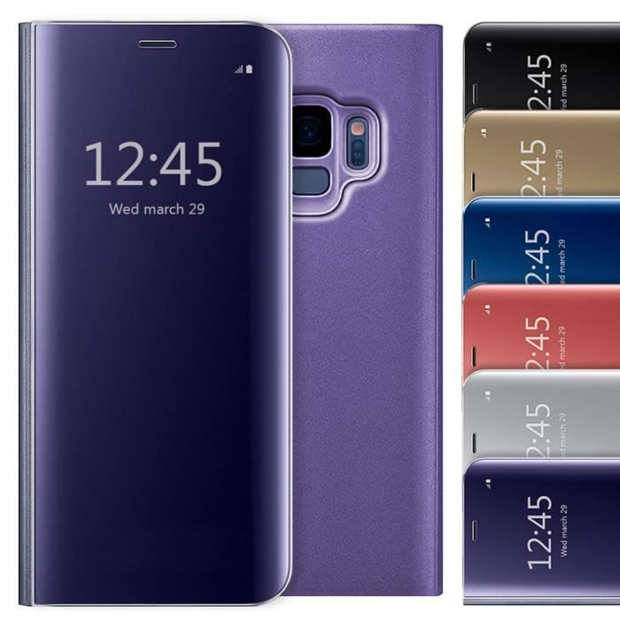 coque samsung s9 clear view cover