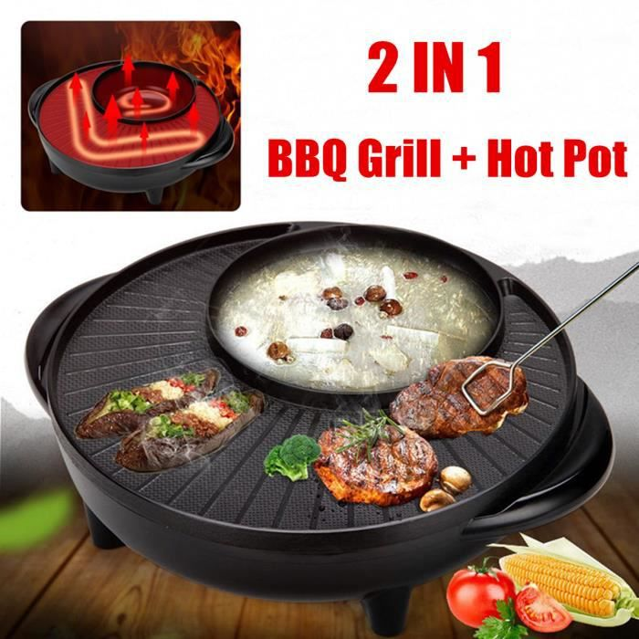 Photo de tempsa-2-en-1-barbecue-de-grille-et-hot-pot-bbq-pan-sans-fumee-non-baton