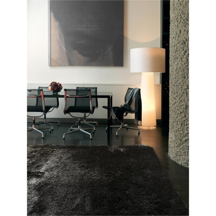 benuta tapis poils longs whisper anthracite 150x150 cm achat vente tapis cdiscount. Black Bedroom Furniture Sets. Home Design Ideas