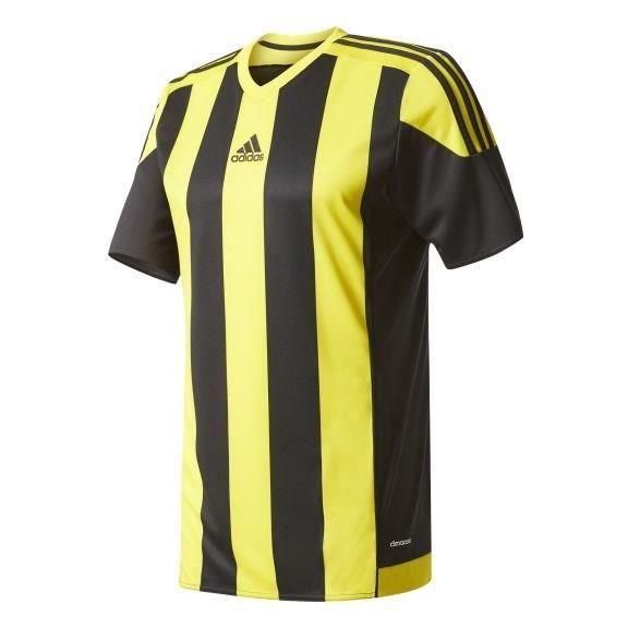 ADIDAS Maillot de Football Striped 15 Noir Jaune