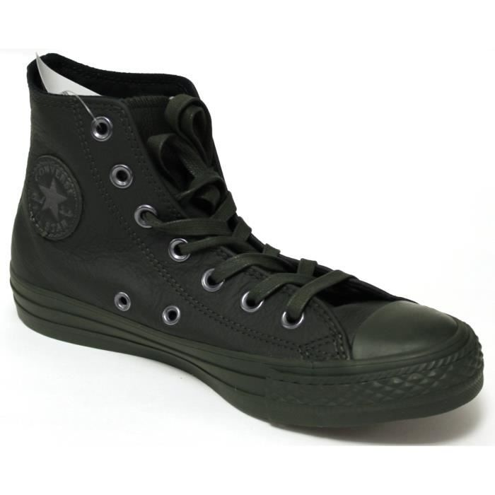 STAR LEATHER 155132C HI ALL Converse MONOCHROME Sneakers UgEq7xywH