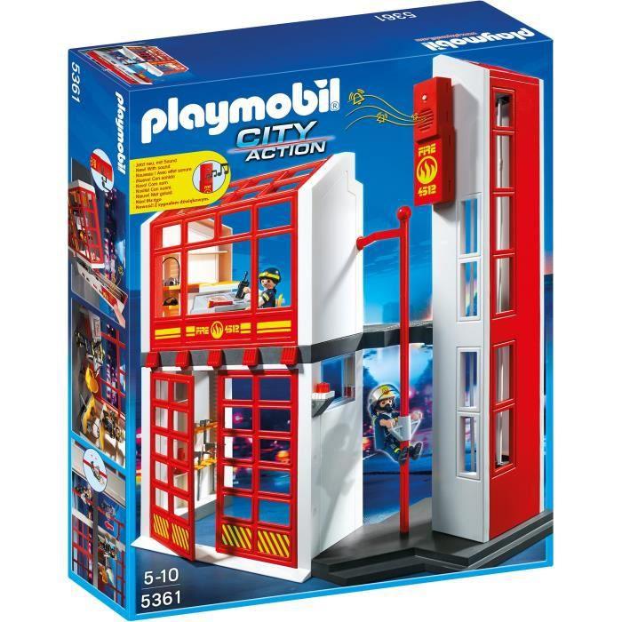 Photo de playmobil-5361-city-action-caserne-de-pompiers-avec