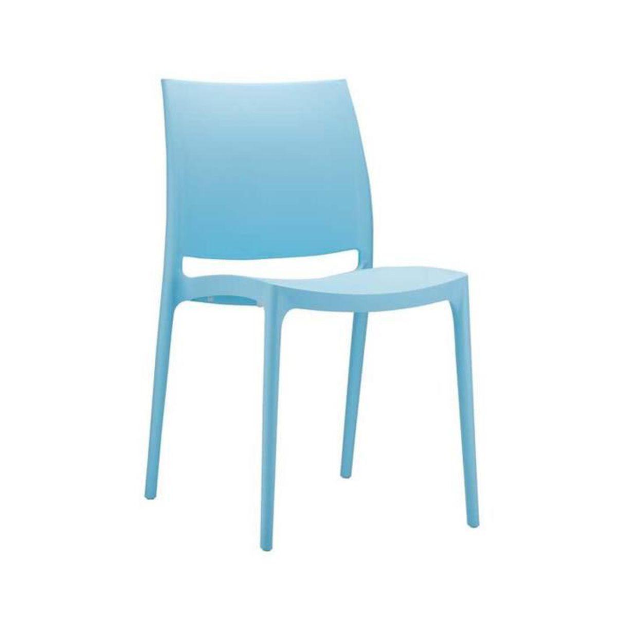 Chaise de jardin plastique bleu