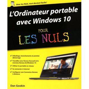 SYSTÈME D'EXPLOITATION L'ordinateur portable avec Windows 10 pour les nul