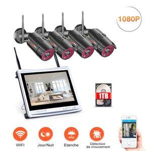 CAMÉRA DE SURVEILLANCE Caméra de surveillance avec écran LCD HD 1080P 12