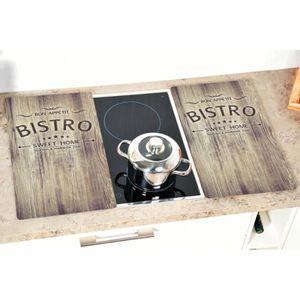 Planche ? D/écouper c/éramique protection murale en verre dans la cuisine induction 1 Pi?ces 60 x 52 cm pour verre Plateau de protection universel pour plaques de cuisson en verre tremp/é de 4 mm