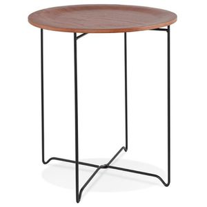 TABLE D'APPOINT TABLE D'APPOINT DESIGN 'OOLA' NOIRE STYLE INDUSTRI